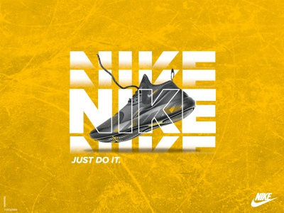 Nike Ad Concept advertising design poster print advertise concept business exploration minimal lettering typography branding design