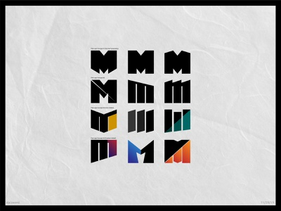 Letter M Exploration unused logo draft concept business letters company web illustrator exploration typography lettering vector minimal flat logo design branding