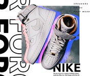 Product Poster Advertisement Concept - Nike