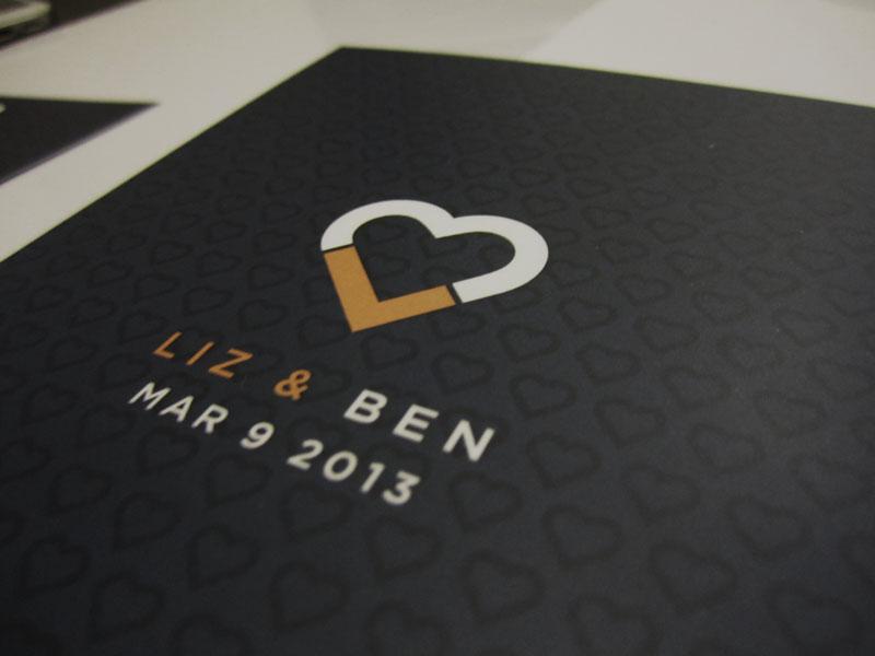 Wedding Invitation, Liz & Ben invitation wedding invitation wedding invite logo logo design
