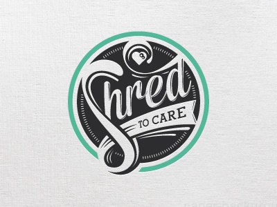 Shred to Care Logo  badge badge logo logo care care logo