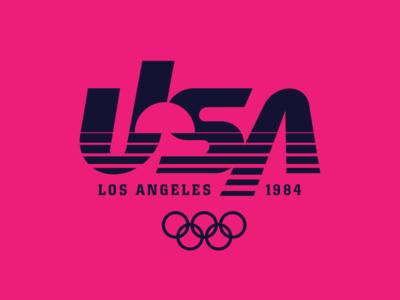 Redo of the LA 1984 Olympics logo olympics los angeles logo design logo