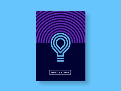 Poster Innovation idea branding innovate lightbulb light poster design poster art poster