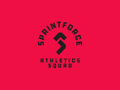 Sprintforce Athletics Squad Logo team logo sports branding sport sports logo badge badge logo logo design logo