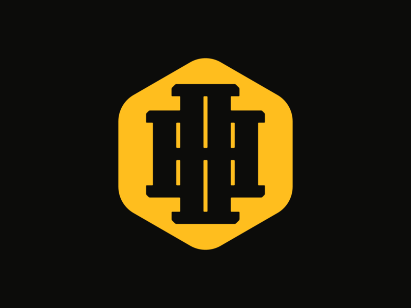 Double H Logo badge logo badge lettering type branding icon design design logo design logo