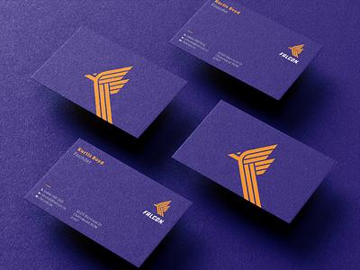 Falcon logo business cards