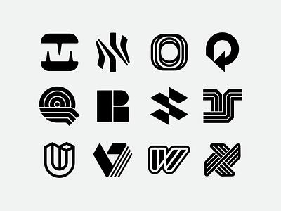 36 Days of Type 2021 - Second 12 letters typogaphy letters monogram logo design logo 36daysoftype