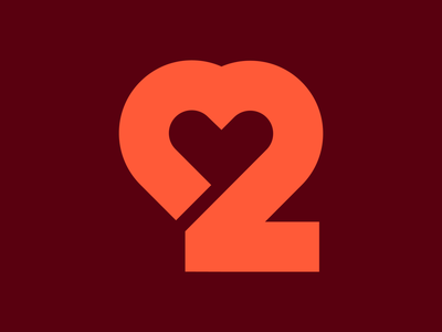 2 logo mark monogram logo monogram classic logo love heart heart 2logo 2 logo design logo 36daysoftype