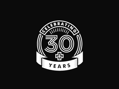 30 Year Badge logo design logo black white black and white badge style badge logo badge 30