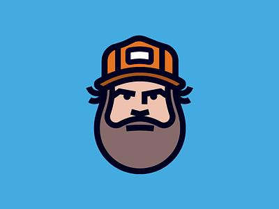 Mr Aaron Draplin face ddc badge icon-design icon illustration aaron-draplin draplin