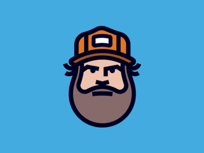 Mr Aaron Draplin face ddc badge icon-design icon illustration aaron-draplin draplin