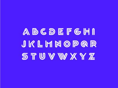 BG INLINE font design tyepface design letters lettering font type typeface