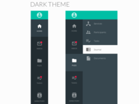 Material UI Dark Themed Navigation