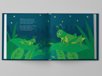 God Says Nite Nite Baby: Crickets childrens book illustration night scene crickets childrens illustration childrens book