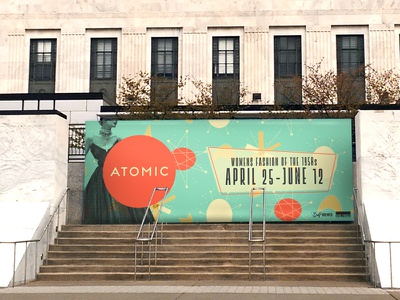 Atomic Billboard mockup atomic 1950s retro fashion