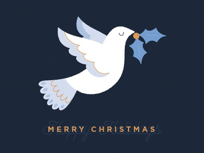 Christmas Dove Card