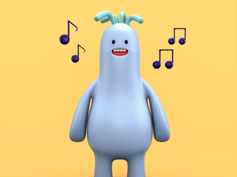 Singing Monster render monster illustration design character cartoon cinema 4d c4d 3d