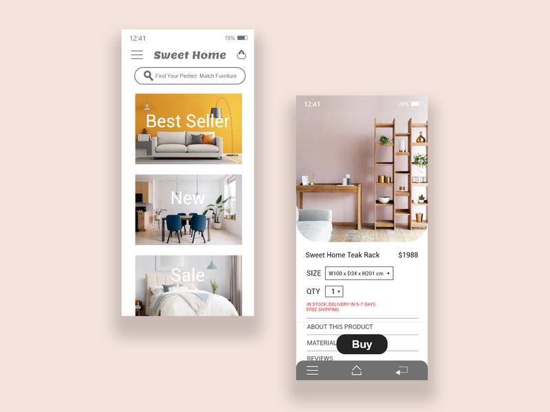Web & UI Design - Furniture furniture furniture app app design web design graphic design ui design ux design ui web design
