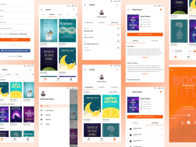 Readly - Audio Books App UI Design Light Theme