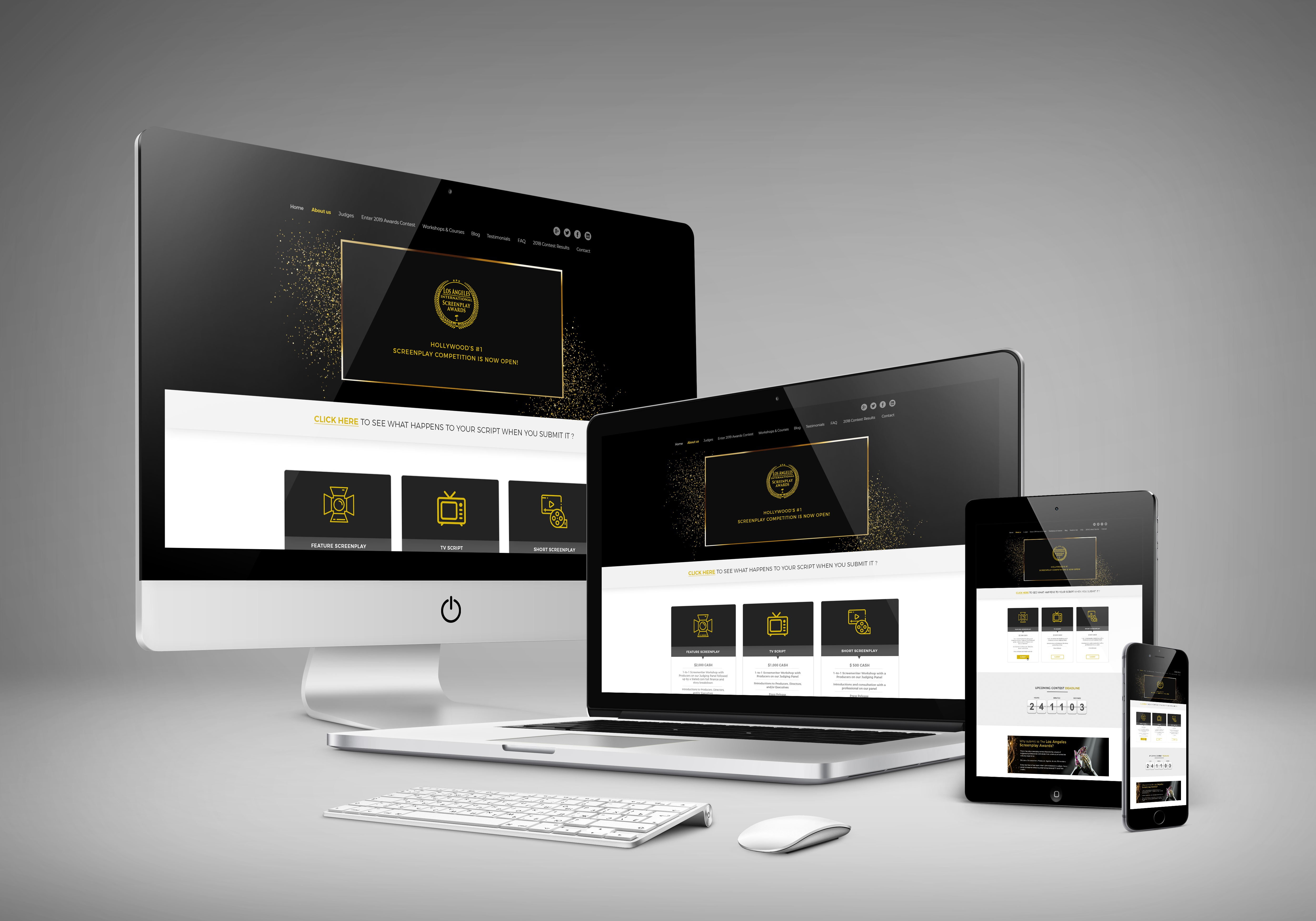 Web Design for Los Angeles Screenplay Awards by Adil Nasir