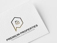 Logo Design Concept for Premium Properties