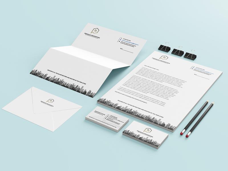 Premium Properties Stationery Design stationery branding design