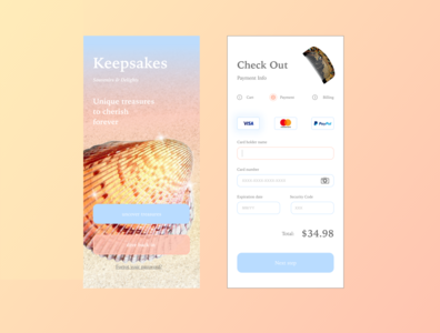 Keepsakes website vector ux web logo ui dailyui app design