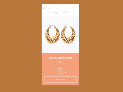 Ecommerce page for chunky gold hoops