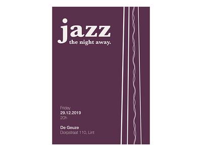 Jazz bassist strings purple contrabass blues event branding event design event flyer music artwork music art music jazz poster art posters poster designer design illustration