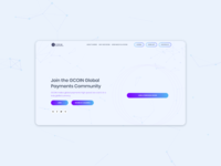 Landing page for a cryptto token