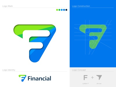 F letter logo grow arrow logo mark branding brand identity tax finance financial accounting software accounting logo consulting firm consulting logo minimal logo logo letter mark f creative icon flat modern