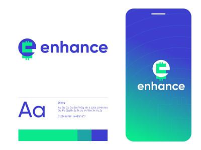 Enhance logo icon design brand identity flat $ creative dollar money banking finance minimalist logo modern logo logo design letter mark e