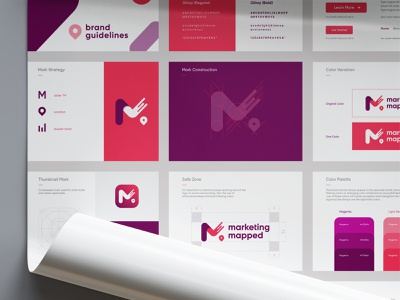 Marketing Mapped -  brand guide guidelines brand guide brand book minimal modern