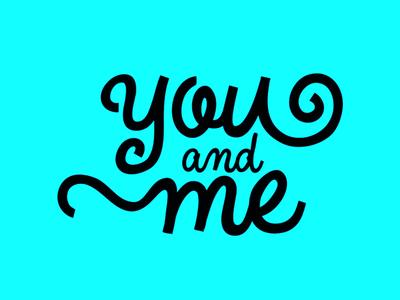 """You and Me"" logodesign logo letterlogo logodesign typography"