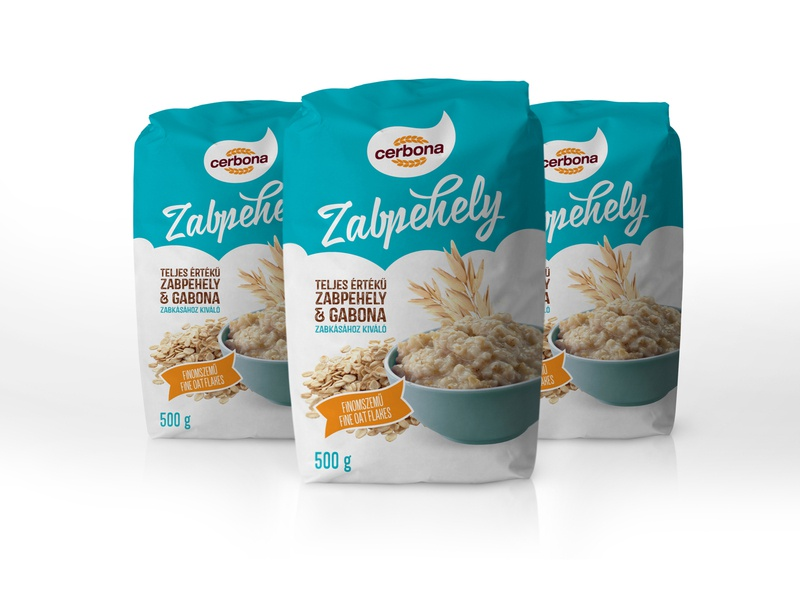 Cerbona Zabpehely csomagolásterv foodpackaging oatflakespackaging oatflakes zabpehely csomagolasdesign csomagolastervezes packagingdesign
