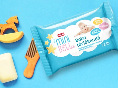 Packaging design for babycare products wetwipes babycare branding logodesign typography typologo csomagolasdesign csomagolastervezes packagingdesign