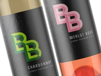 """Logo and label design for hungarian wine """"BB"""""""
