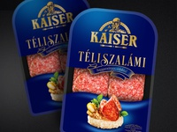 """Packaging design for hungarian coldcuts """"Kaiser"""""""