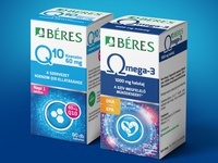 """Packaging design for """"Béres"""" vitamins"""