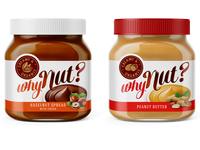 Packaging design - hazelnut and peanut spread