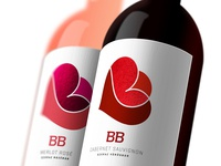 """Wine label design for hungarian wines """"BB"""""""
