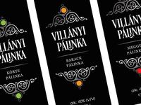 """Spirit label design - """"Villanyi"""" palinka label redesign"""