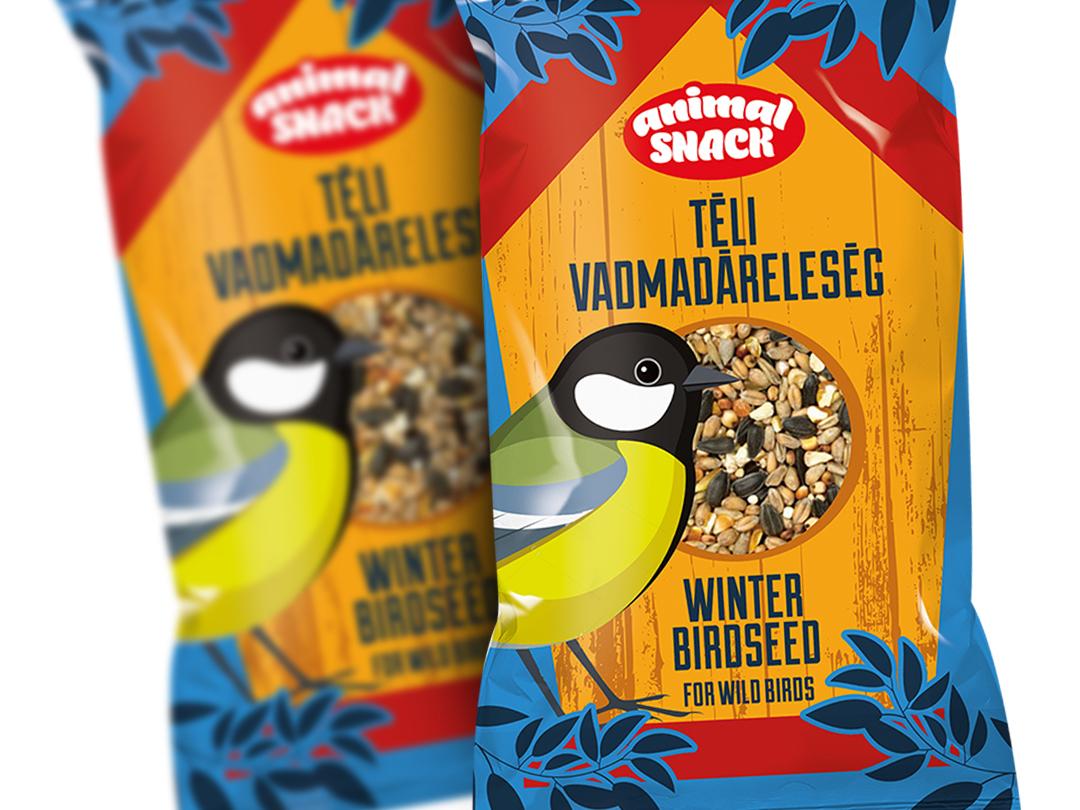Logo and packaging design - Winter birdseed logodesign packagingdesign birdseed