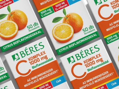 Béres C KOMPLEX vitamine packaging design