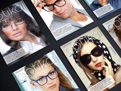 Optikai magazin tördelés