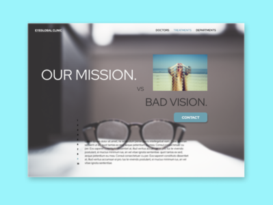 eyeclinic landing page