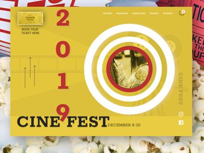 CINEMA FESTIVAL landing page