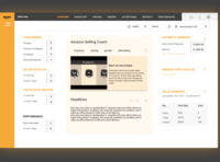 amazon dashboard for sellers (redesign)