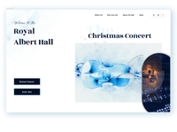 concert hall landing page