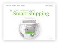 Shipping company landing page